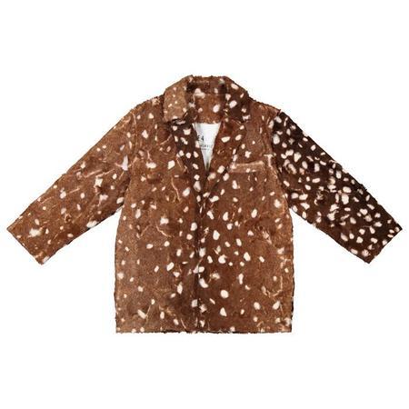 Kids Caroline Bosmans Faux Fur Jacket - Deer