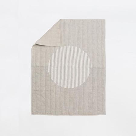 Caroline Z. Hurley Moon Quilt - Stripe Natural