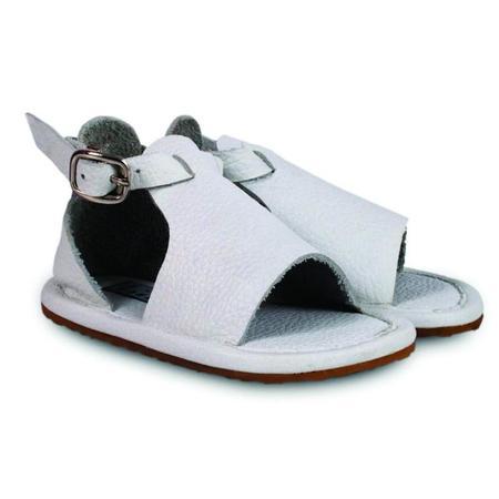 Kids Donsje Lilo Leather Sandal - White