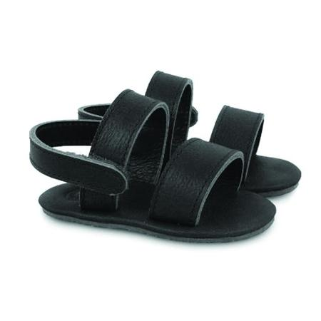 Kids Donsje Sari Leather Sandal - Black