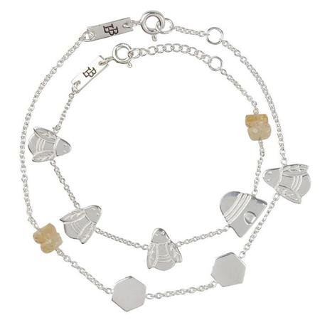 Kids Lennebelle Petites Queen Bee Mother & Daughter Bracelets (Set of 2) - Silver