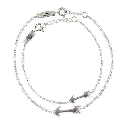 Kids Lennebelle Petites You Give Me Direction Mother & Daughter Bracelets (Set of 2) - Silver