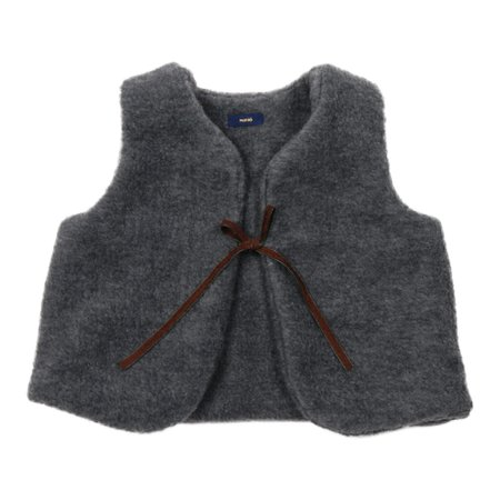 Kids Makié London Wool Vest - Grey