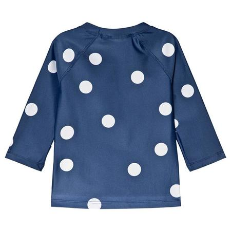 Kids Mini Rodini Dot UV Swim Top - Navy