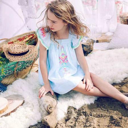 KIDS Nellystella Chloe Dress - Frosty Blue