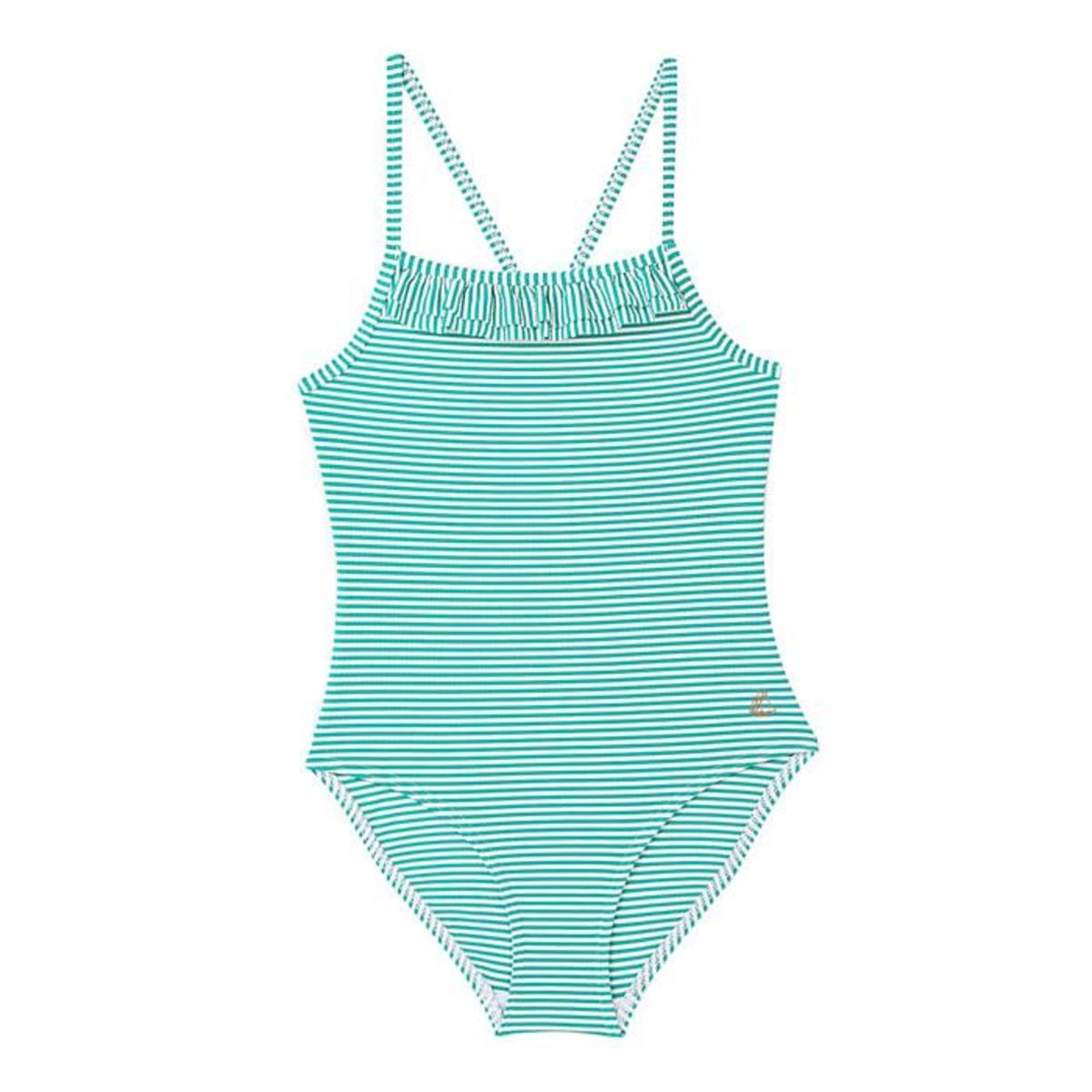 c171c5cdd1 KIDS Petit Bateau Fini One Piece Swimsuit - Green/White Stripes ...