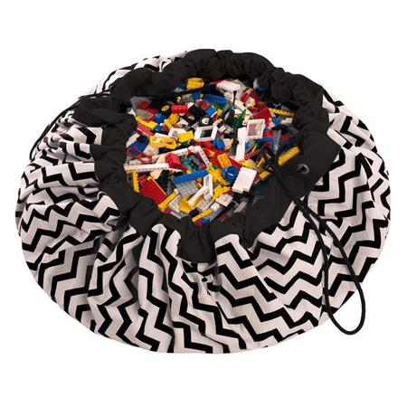 KIDS Play & Go Toy Storage Bag - Zigzag Black