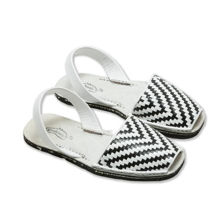 Kids Riudavets Rustic Sandals - White and Black