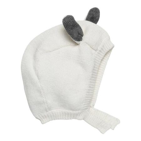 Kids Stella McCartney Chips Bunny Knit Hat - Cream