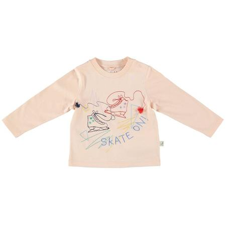 Kids Stella McCartney Georgie Baby Skate On Embroidered T-Shirt - Pink