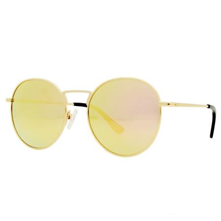 Winkniks Parker Sunglasses - Shiny Gold Steel Frame/Cotton Candy Mirror Lens