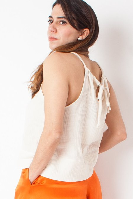 Hackwith Design House Drawstring Tank Top - Ivory