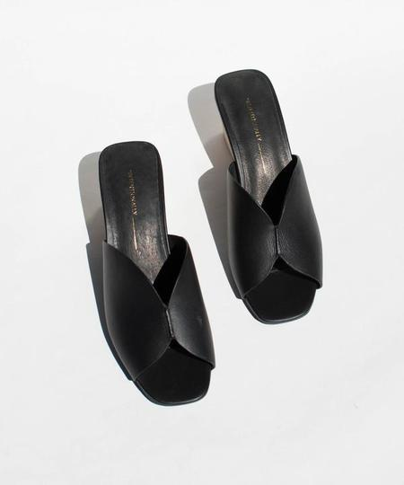"""INTENTIONALLY __________."" JONES SANDAL - Black Leather"