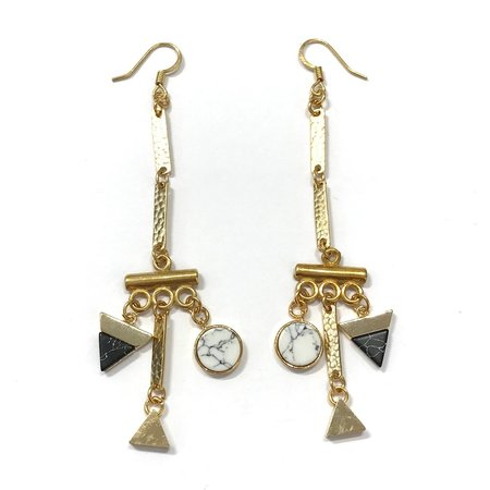 Marijke Bouchier Long Hook Earrings