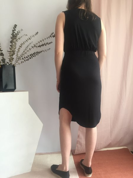 Eve Gravel Wildflower Dress - Noir