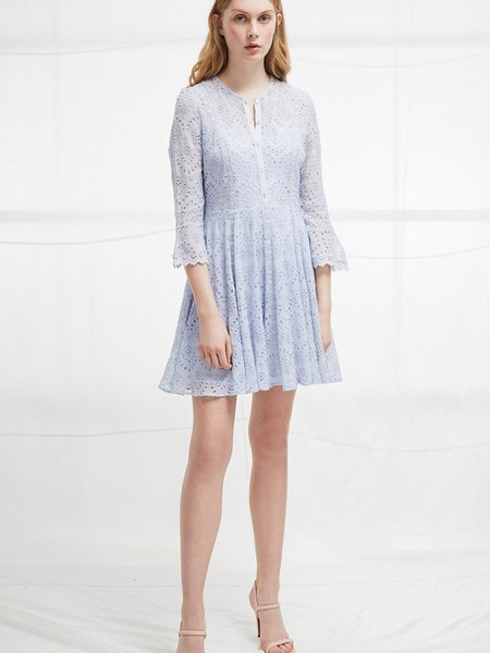 French Connection Broderie Fluted Dress
