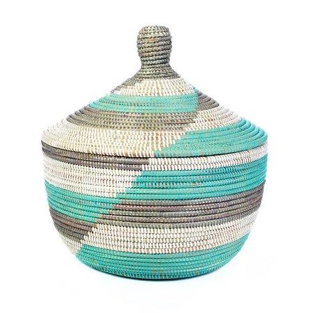 Swahili Modern Large Herringbone Storage Basket