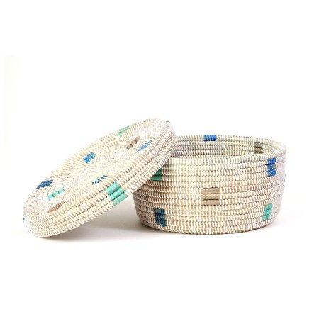 Swahili Modern Small Lidded Box Basket