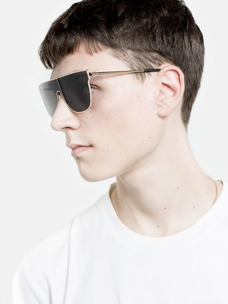 UNISEX RetroSuperFuture Lenz Flat Top Eyewear - Black