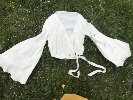 BELLADONNA WRAP BLOUSE - WHITE