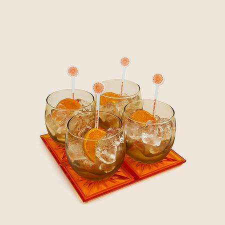 VINTAGE The Tabu Shop Cocktail Set - Orange Crush