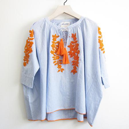 Gallabia Calypso Shirt - Blue/White/Orange