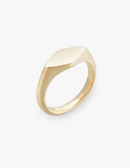 Kathryn Bentley Ellipse Signet Ring - 14 KARAT GOLD