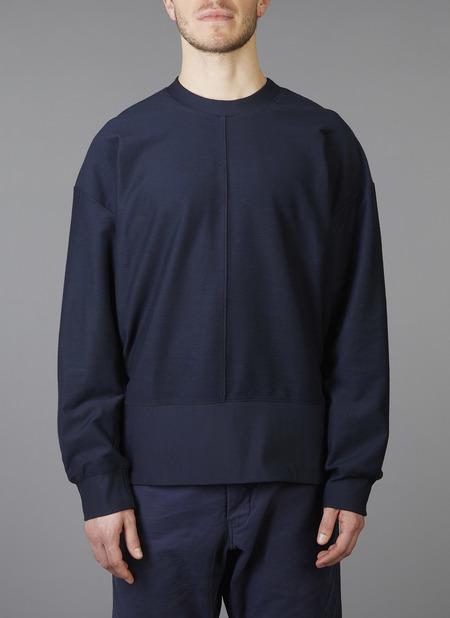 Grei Ultra-Fine Terry The Big Sweatshirt - Midnight Blue