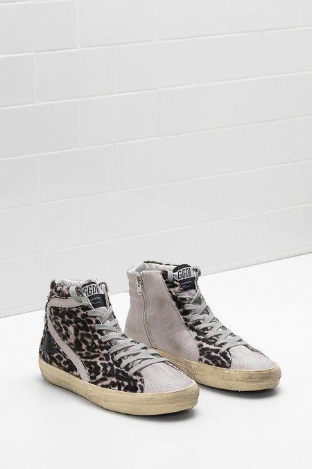 Golden Goose Superstar Sneakers - Slide Leopard