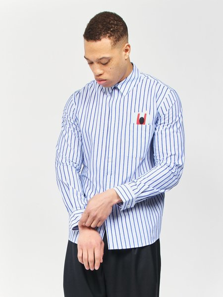 Henrik Vibskov Pillow Shirt - Blue Stripe
