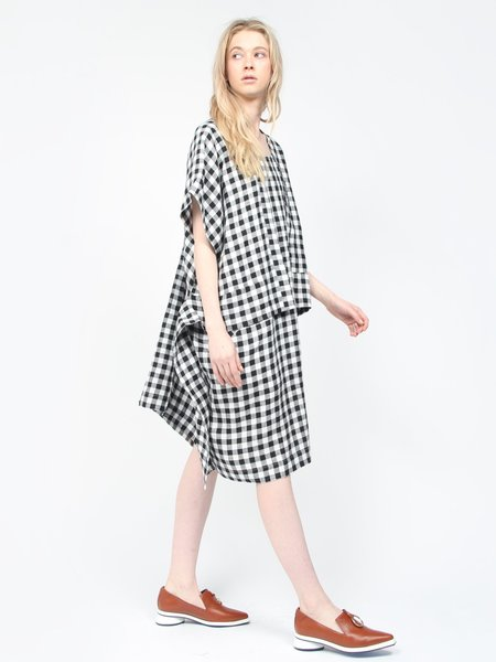 Henrik Vibskov Sheet Dress - Black/White Gingham