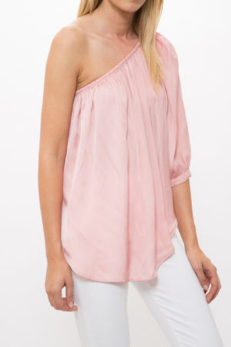 Smythe Single Shoulder Top - TEA ROSE