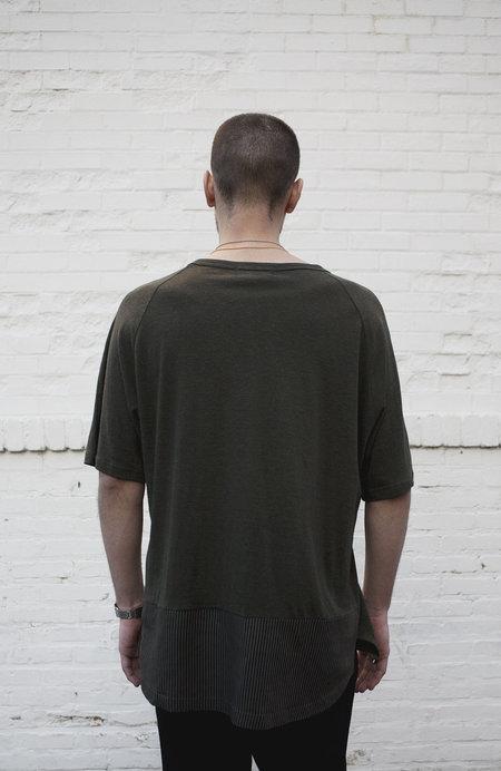 P.L.C. Blocked Linen T-Shirt - Khaki
