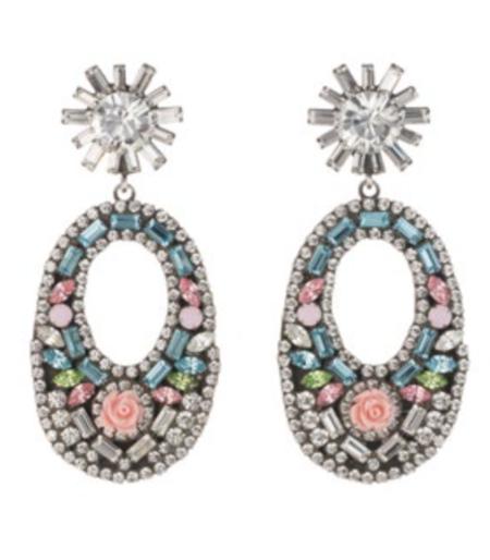 Dannijo Glass Earrings - PASTEL MULTI