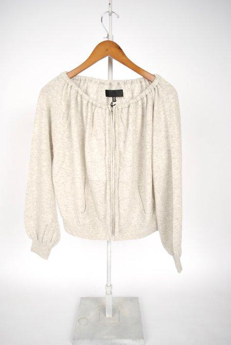 Nili Lotan Santiago Sweater - LIGHT GREY MELANGE