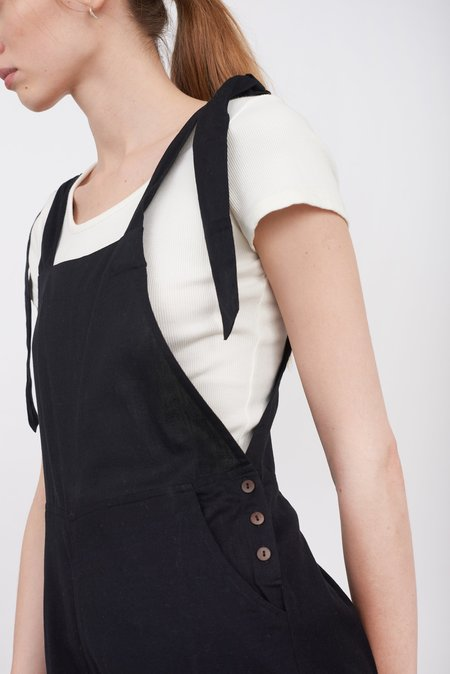 fort Cotton Dungarees - Black