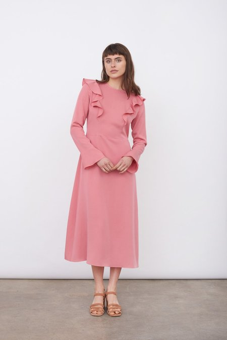 The Acey The ruffle dress - PINK