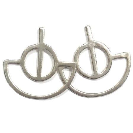 Alynne Lavigne Fan Earrings - Sterling Silver