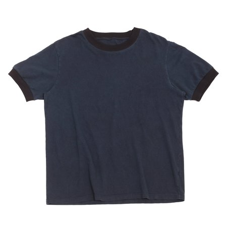Unisex Olderbrother Hand Me Down Ringer Tee - Indigo