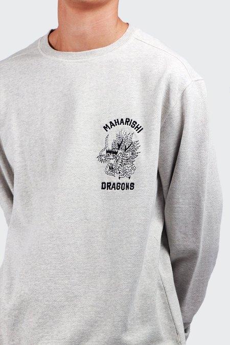 Maharishi Stencil Dragon Sweater - grey marl