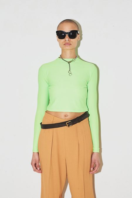 Assembly New York Spandex Cropped Long Sleeve - Neon