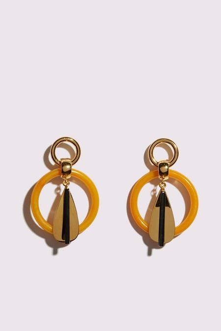 Lizzie Fortunato Modern Earring - AMBER/GOLD