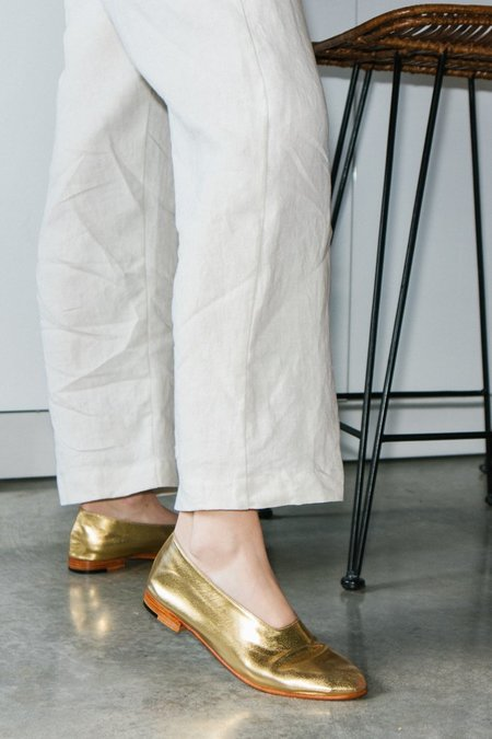 Martiniano Glove Flat Shoe - Gold