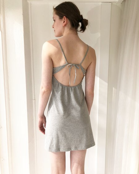 Salua Lingerie Tie Back Chemise - Grey Heather