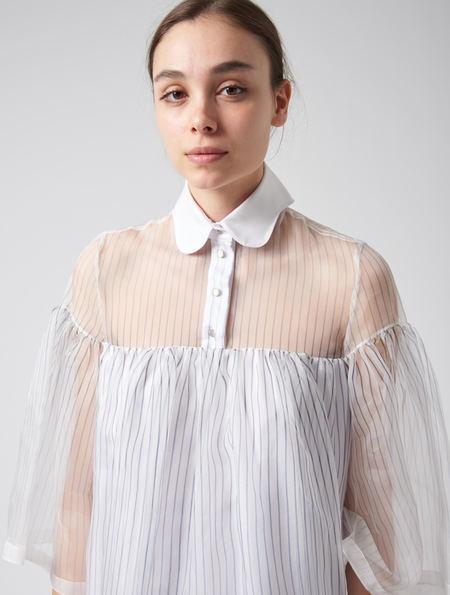 Steven Tai Float Dress - White With Navy Stripe