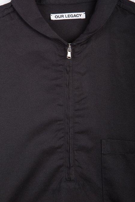 Our Legacy Shawl Zip Shirt - Black Silky Wash