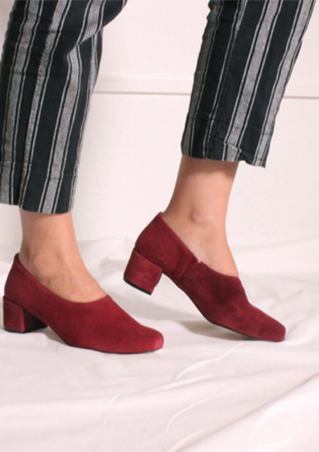 About Arianne Gia Soft Pumps - Cherry