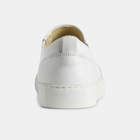 Shoe The Bear Adam Leather Slip-On Shoes - White