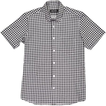 Alter Brooklyn Woven Short Sleeve Shirt - Black/White Gingham