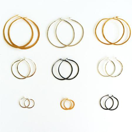Sofie Albertsen Hand Hammered Hoops Earrings - Silver